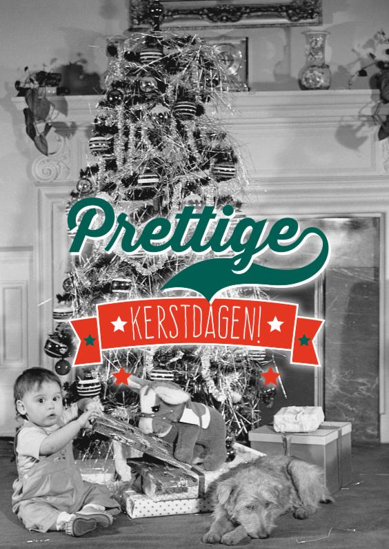 Kerstkaarten - Retro kerstboom-isf