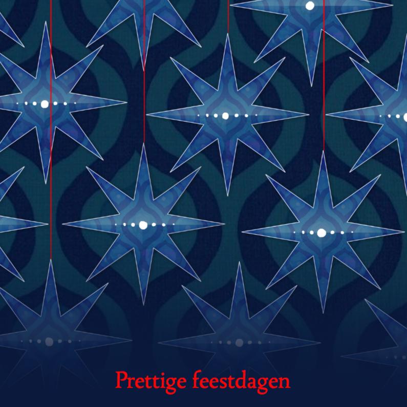 Kerstkaarten - Retro kerstkaart met sterren
