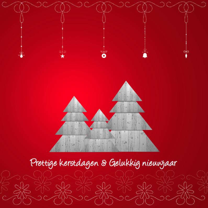 Kerstkaarten - Rode kerst achtergrond