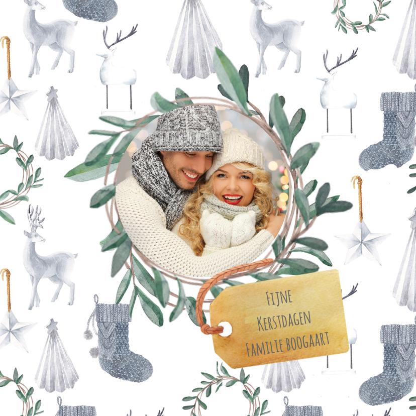 Kerstkaarten - Scandinavische kerstsfeer kaart