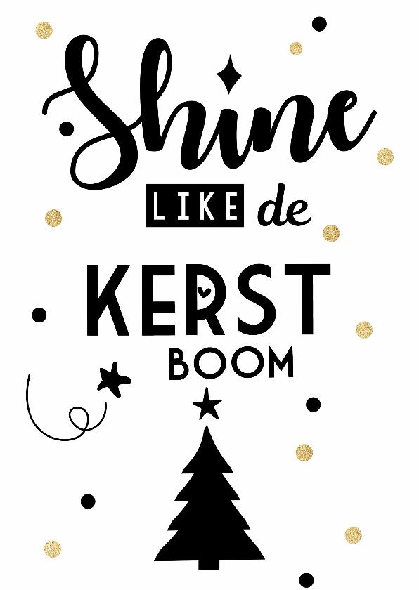 Kerstkaarten - Shine like de kerstboom
