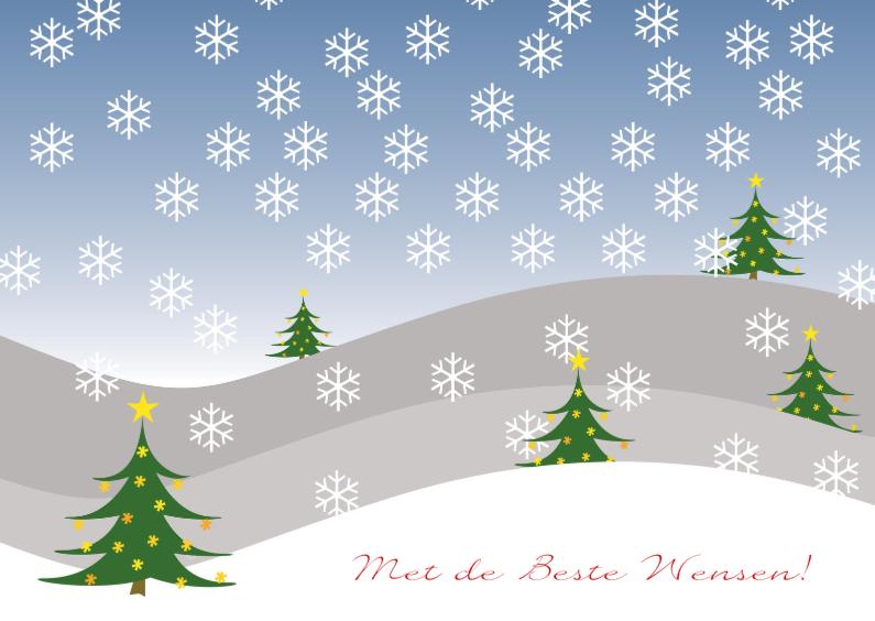 Sneeuwlandschap kerstbomen 1