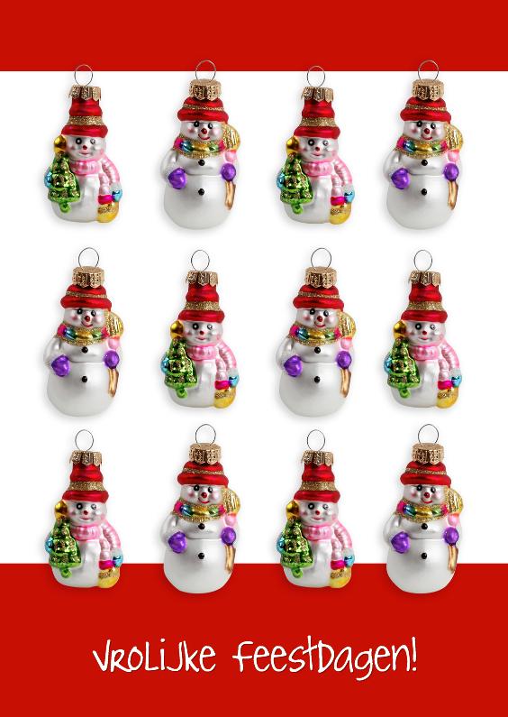 Kerstkaarten - Sneeuwpop kerstkaart - OT