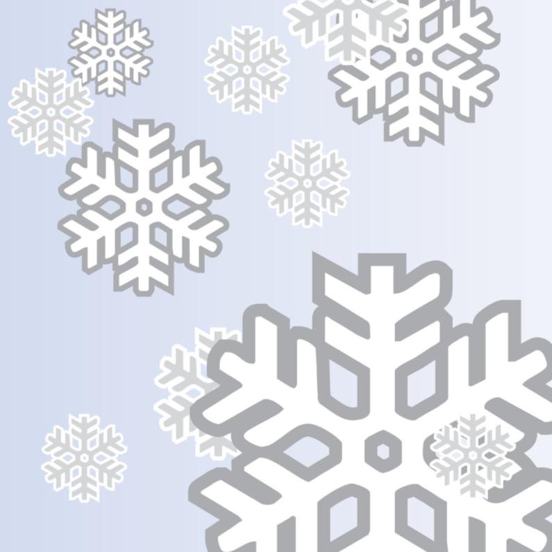 Kerstkaarten - Sneeuwvlokken diverse grootte
