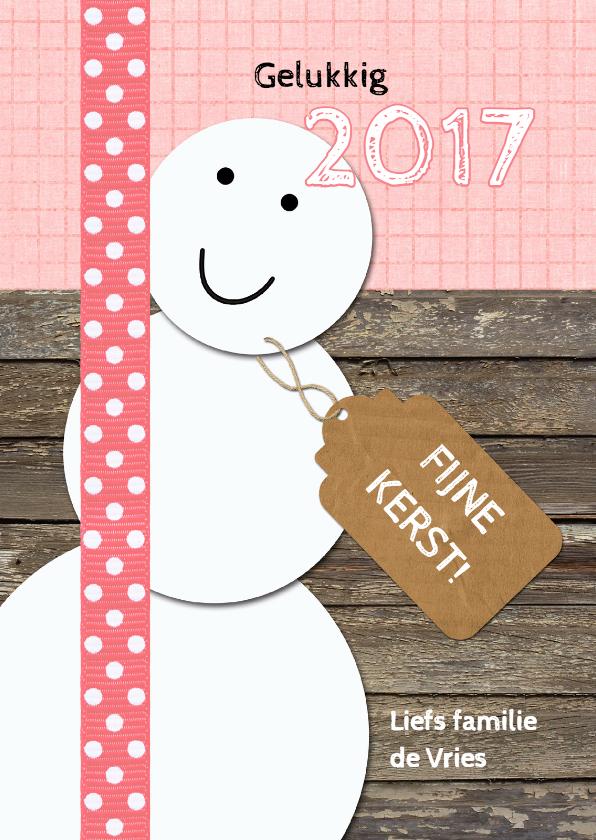 Kerstkaarten - Snowman sweet Christmas - DH