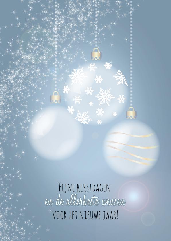 Kerstkaarten - Sprankelende kerst blauw