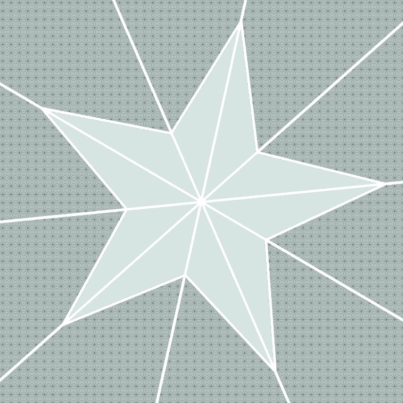 Kerstkaarten - Ster geometrisch zeegroen