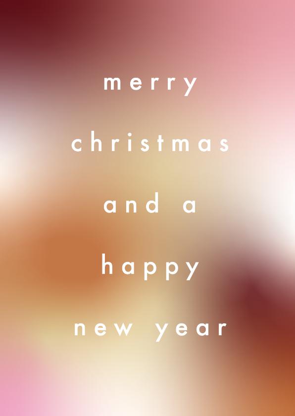 Kerstkaarten - Stijlvol, minimalistische kerstkaart met strakke typografie