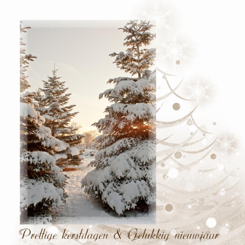 Kerstkaarten - Stijlvolle dennenboom
