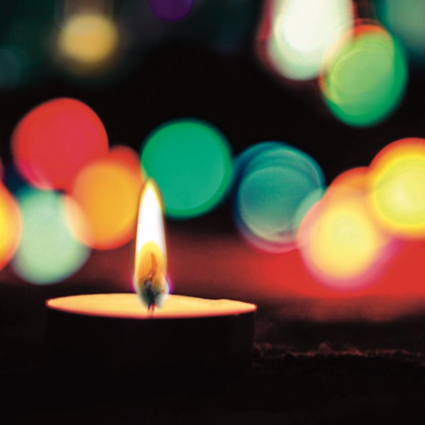 Kerstkaarten - Stijlvolle kerstkaart met kaars