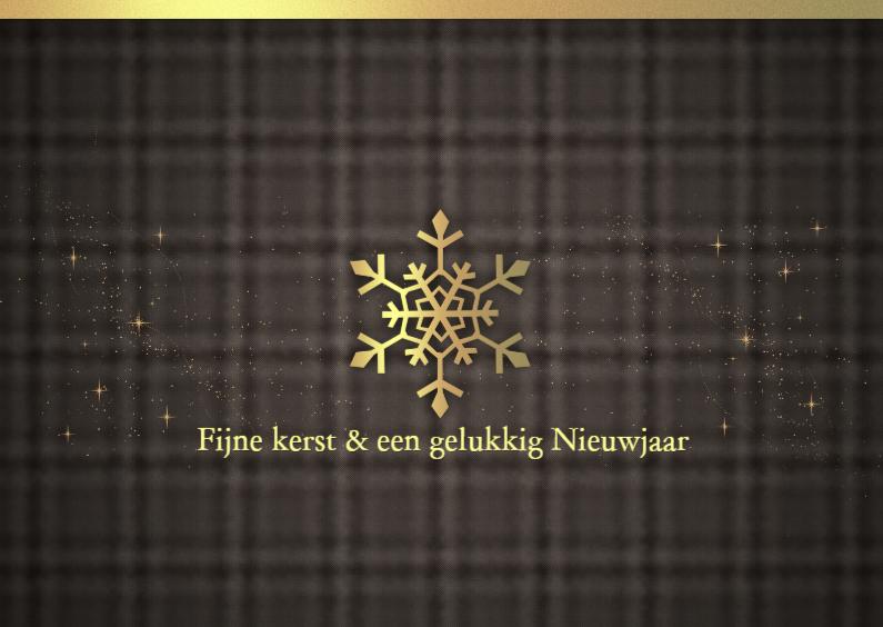 Kerstkaarten - Stijlvolle kerstkaart sneeuwvlok