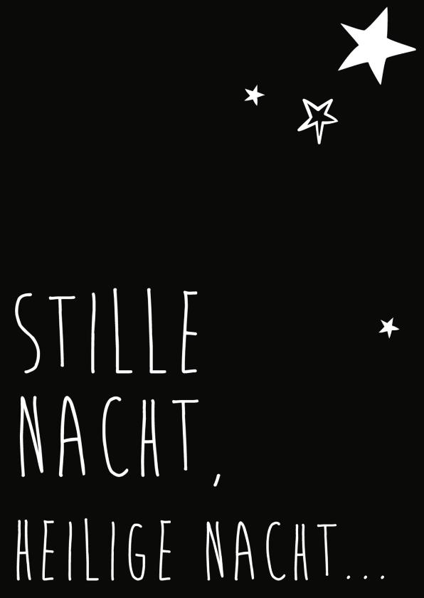Kerstkaarten - Stille nacht, heilige nacht -BF