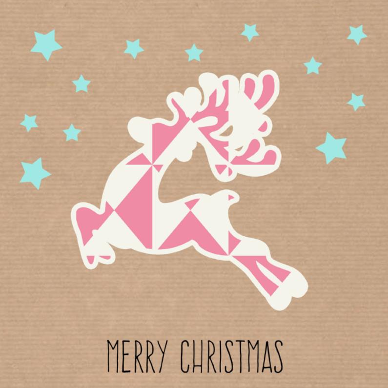 Kerstkaarten - Sweet Christmas Reindeer - DH