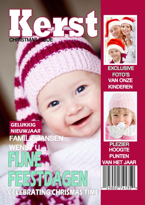 Kerstkaarten - Tijdschrift KERST foto collage