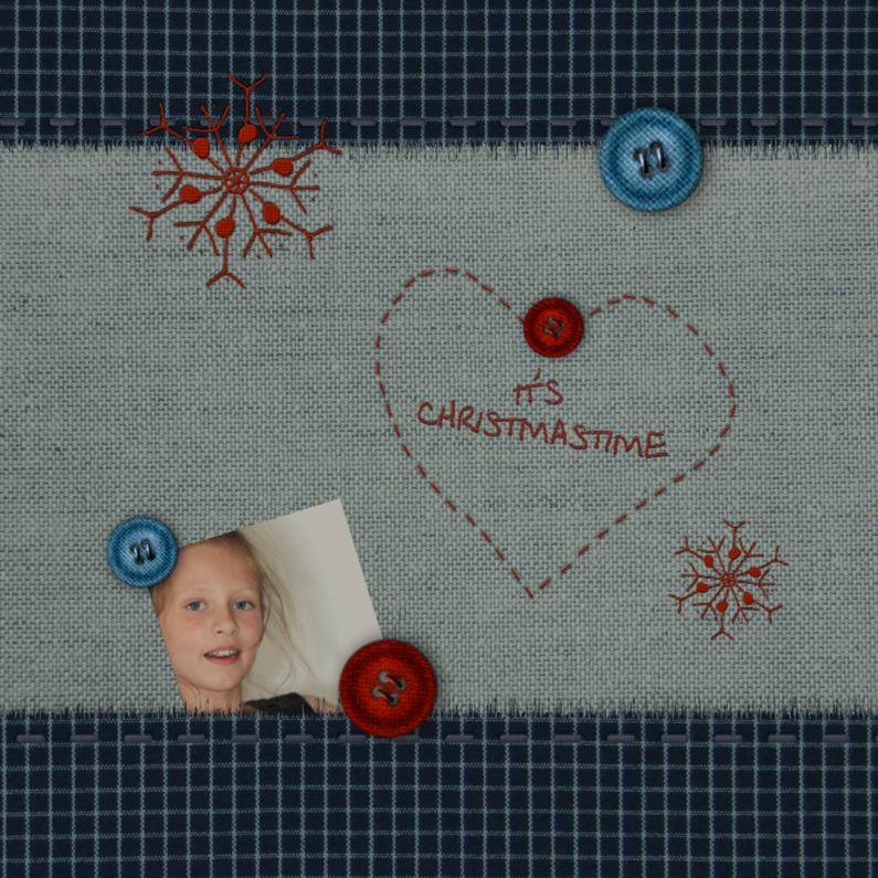 Kerstkaarten - Trendy met stofjes