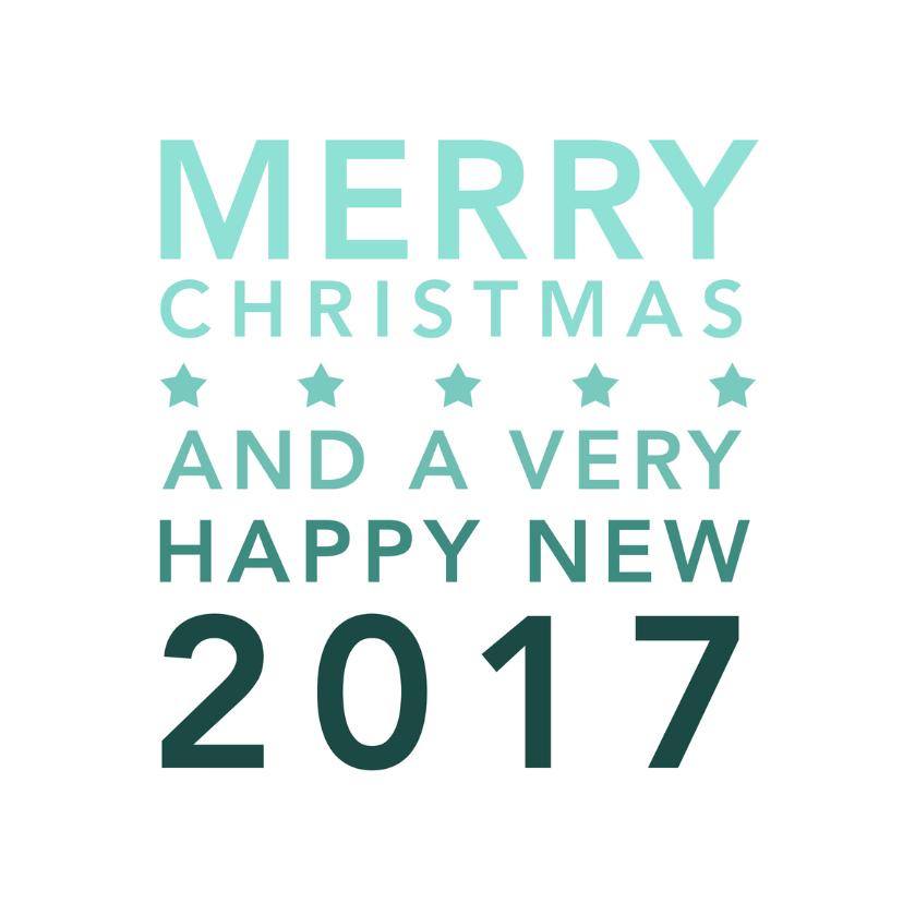 Kerstkaarten - Typografie merry christmas - DH