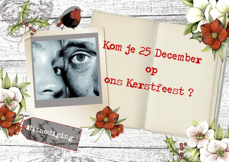 Kerstkaarten - Uitnodiging Kerstfeest foto boek
