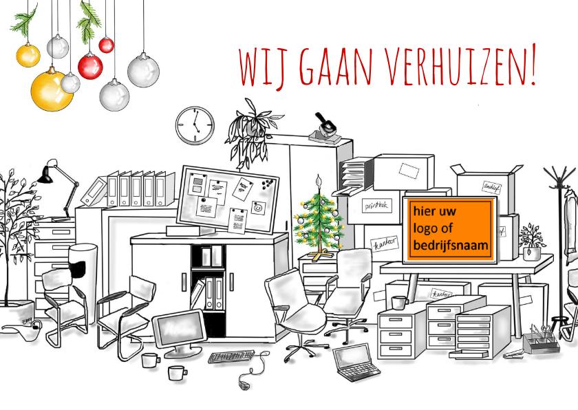 Kerstkaarten - Verhuizen-kerst zakelijk
