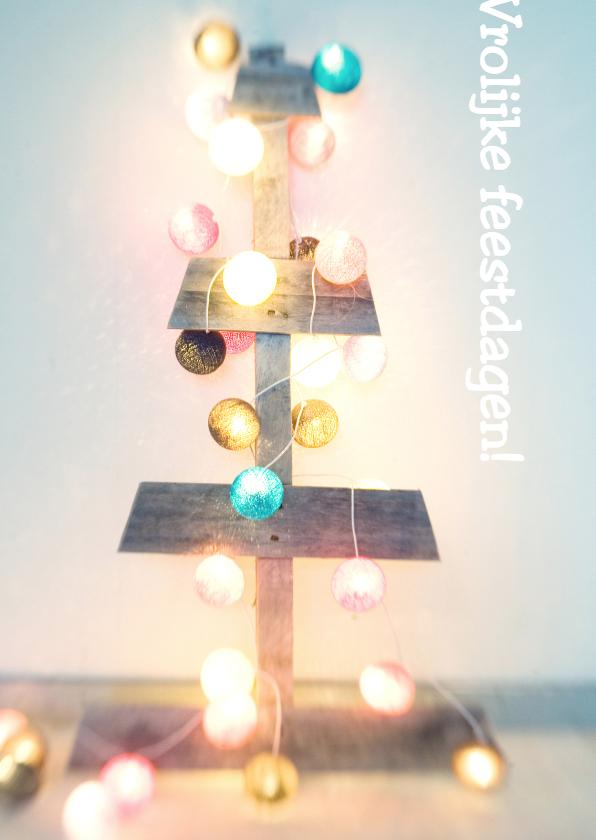 Kerstkaarten - Vrolijke verlichte feestdagen