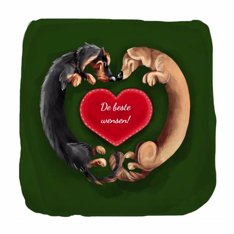 Kerstkaarten - warm puppie wish