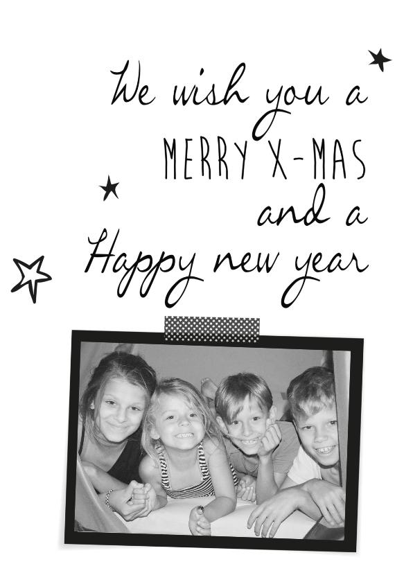 Kerstkaarten - We wish you a merry x-mas