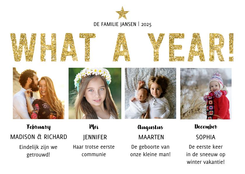Kerstkaarten - What a Year! Kerstkaart