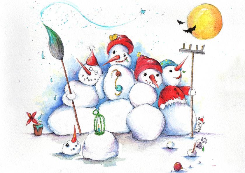 Kerstkaarten - Wij kleuren je kerst