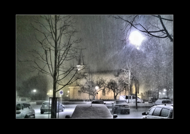 Kerstkaarten - winter avond