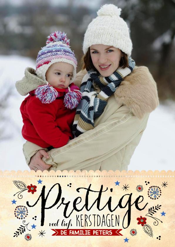 Kerstkaarten - Winter kerstwensen vintage