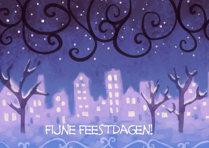 Kerstkaarten - Winterstad