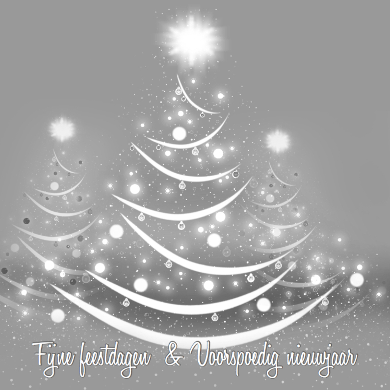 Kerstkaarten - Witte kerstbomen