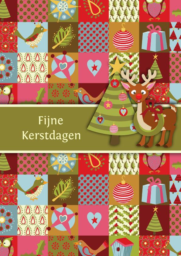 Kerstkaarten - YVON birdy kerstkaart hert kerstboom st