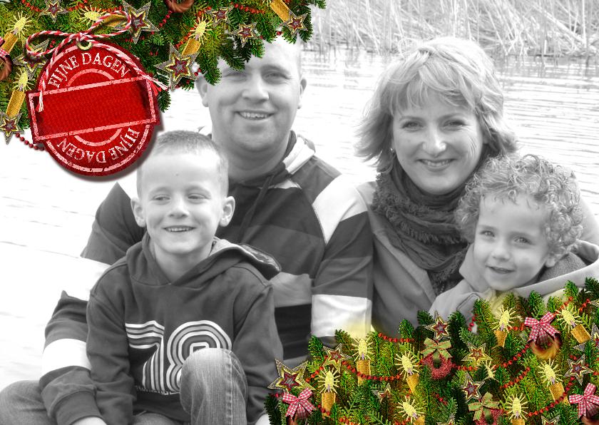 Kerstkaarten - YVON kader kersttakken li