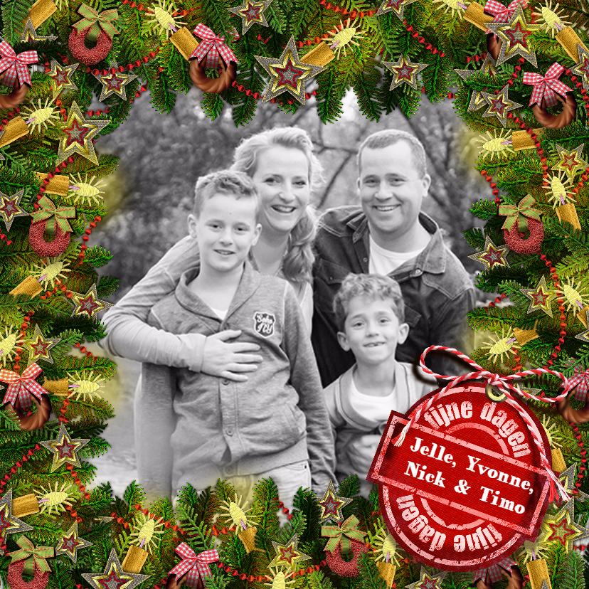 Kerstkaarten - YVON kader kersttakken vk