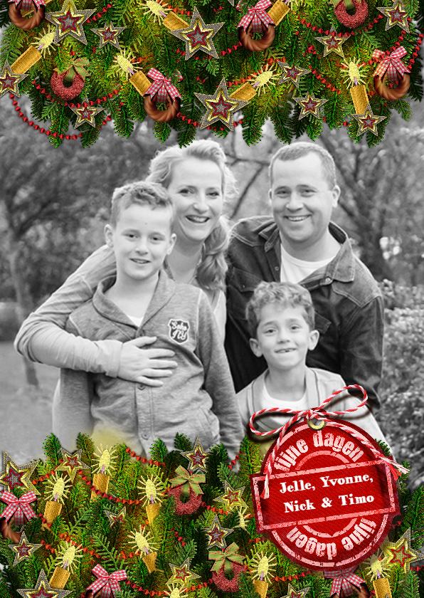 Kerstkaarten - YVON kerst takken kaarsjes st