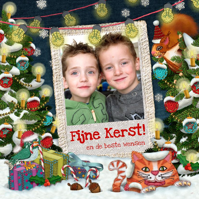 Kerstkaarten - YVON kerstboom gekleurd kinderen