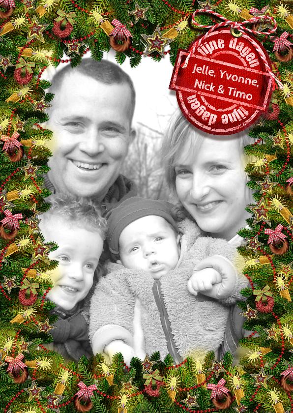 Kerstkaarten - YVON kerstkader takken