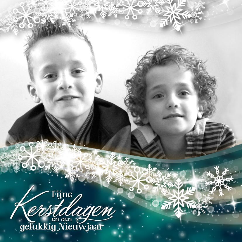 Kerstkaarten - YVON sneeuw sterren bling