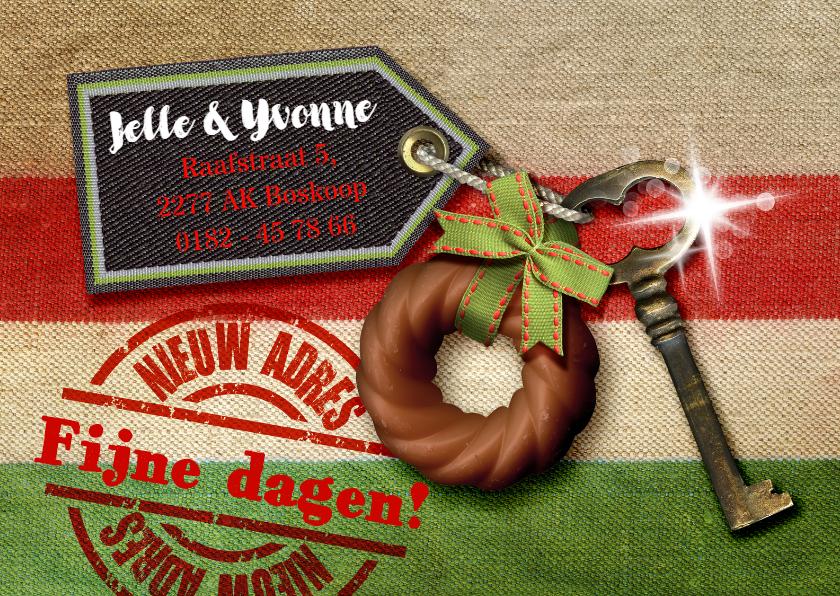 Kerstkaarten - YVON verhuis verhuiskaart kerst sleutel