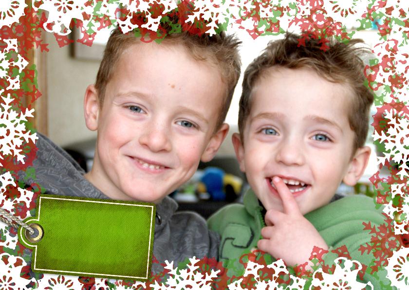 Kerstkaarten - YVON vriesster kader foto rood groen li