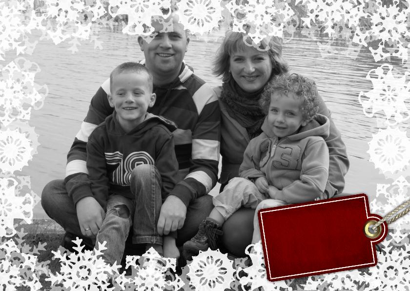 Kerstkaarten - YVON vriesster kader foto wit rh li