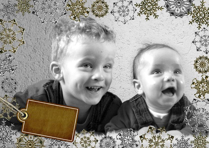 Kerstkaarten - YVON vriesster kader foto zilver rh li