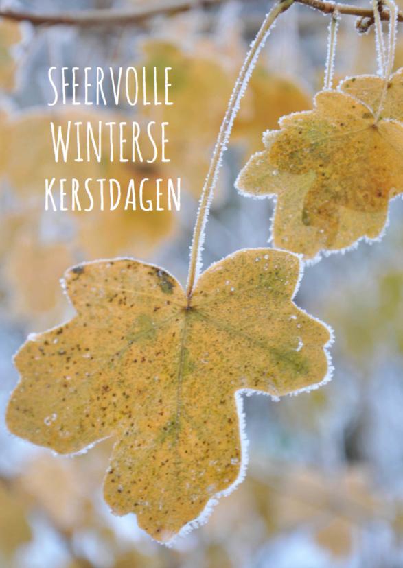 Kerstkaarten - Zakelijke kerstkaart bladeren