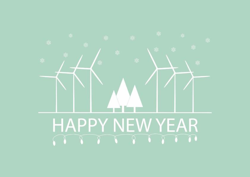 Zakelijke kerstkaart windmolen 1