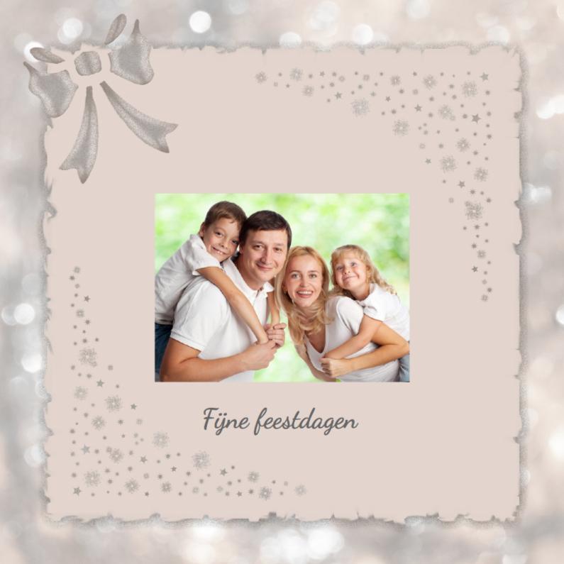 Kerstkaarten - Zilveren kerst -beige-