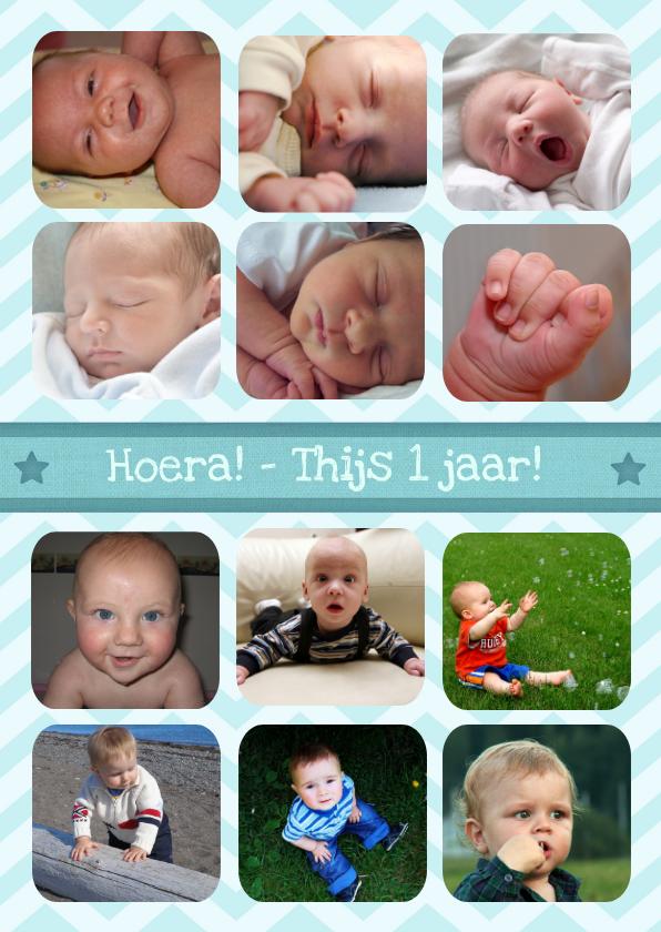 Kinderfeestjes - 12 maanden Kaart - Jongen
