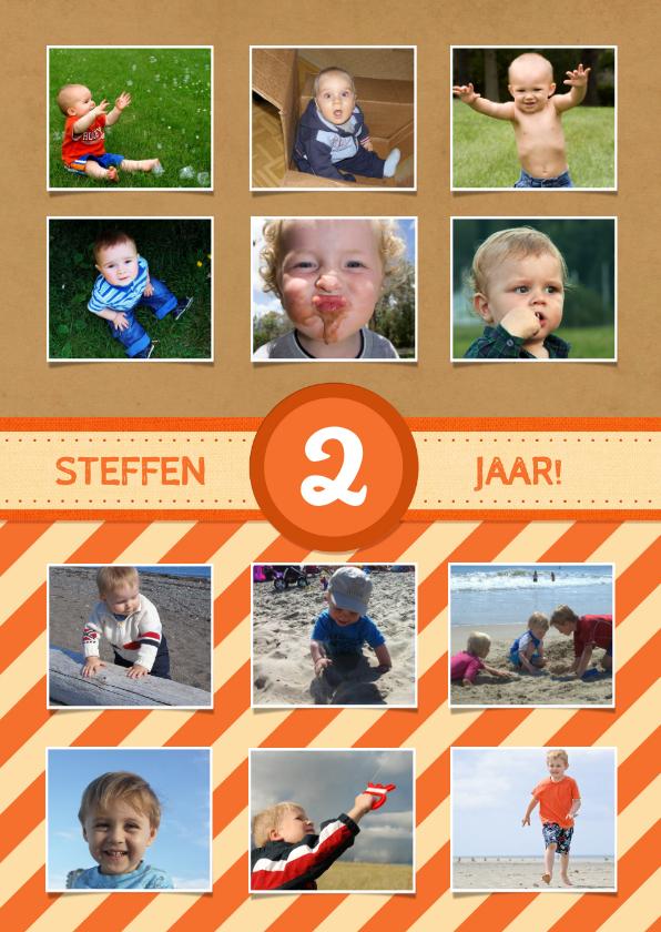 Kinderfeestjes - 12 maanden Karton Oranje