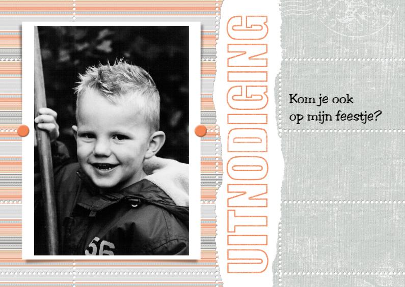 Kinderfeestjes - 13101 Uitnodiging Eigen foto