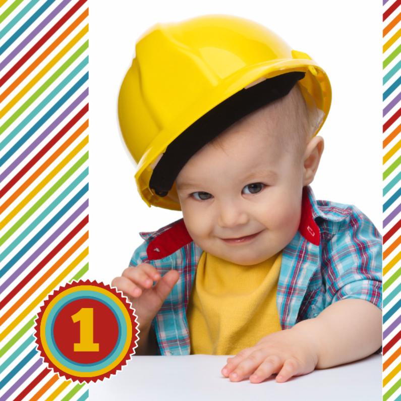 Kinderfeestjes - 14204 Uitnodiging 1 jaar