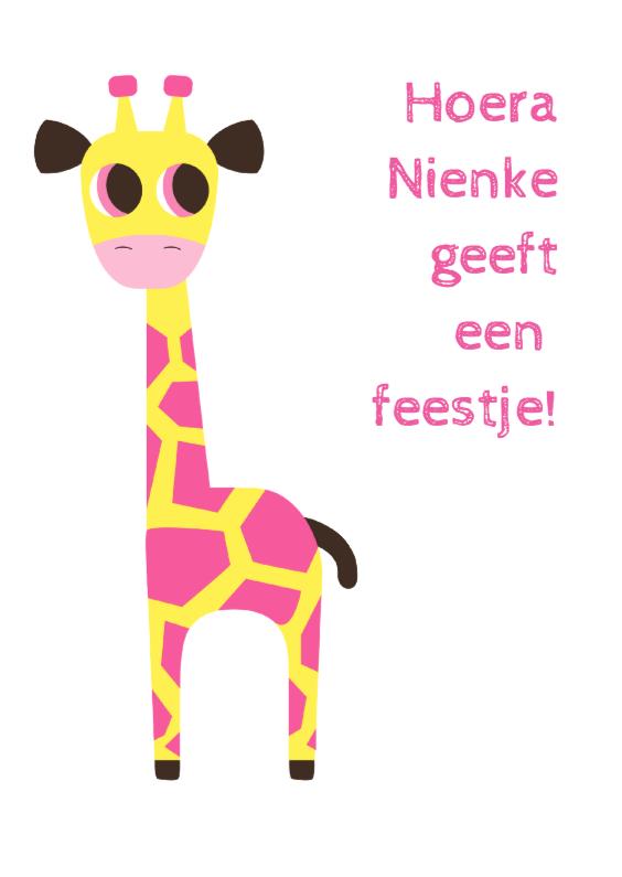 Kinderfeestjes - ANIMALS-Giraf-2